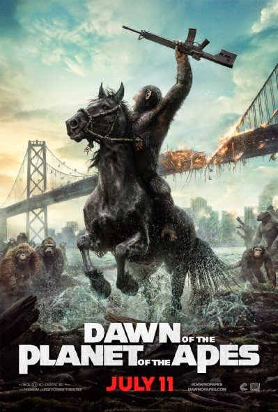 Poster Of English Movie Dawn of the Planet of the Apes (2014) Free Download Full New Hollywood Movie Watch Online At alldownloads4u.com