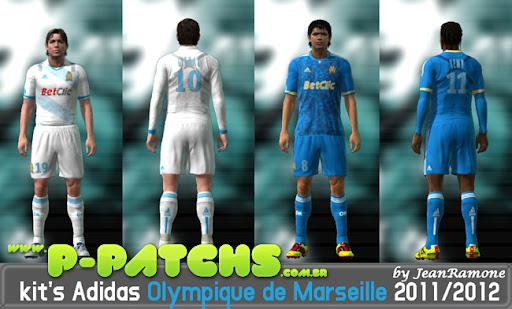 Olympique de Marseille 11-12 Kitset para PES 2011 PES 2011 download P-Patchs
