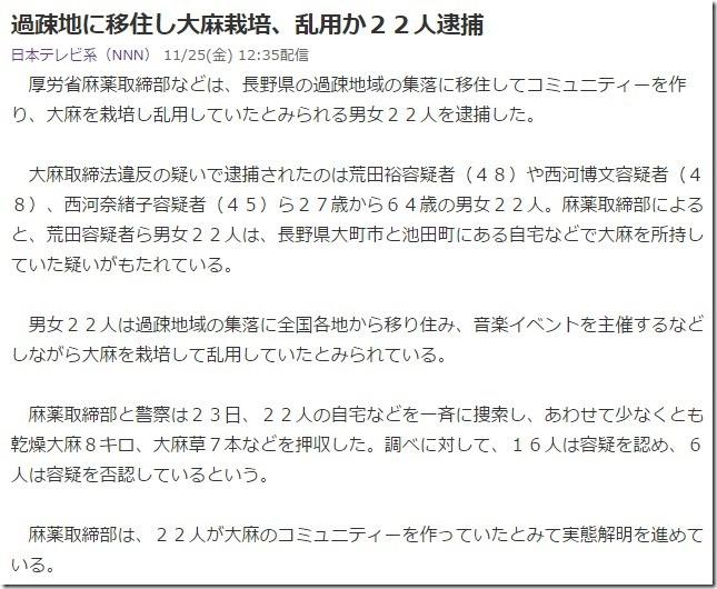 長野大麻22人逮捕n02