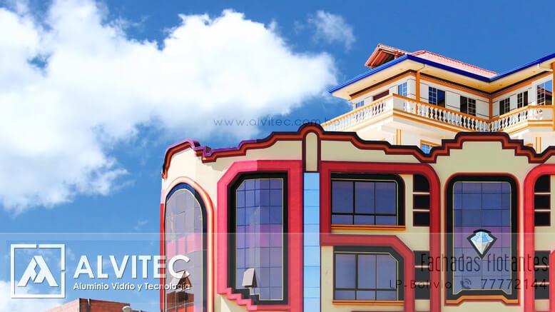 Fachadas flotantes para edificios y viviendas