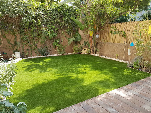 הקמת גינה, דשא סינתטי וצמחים