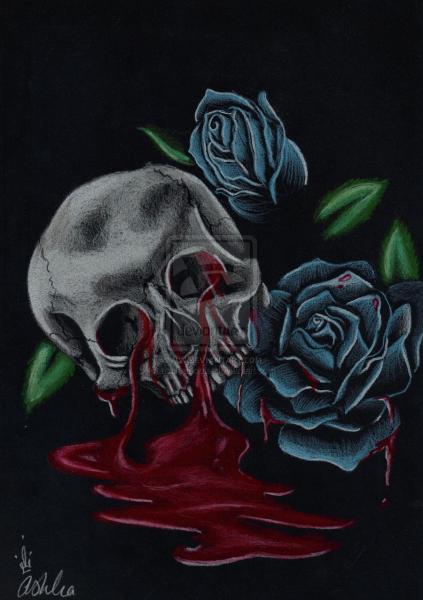 Blue N Bleeding By Ashleapoole, Bloody