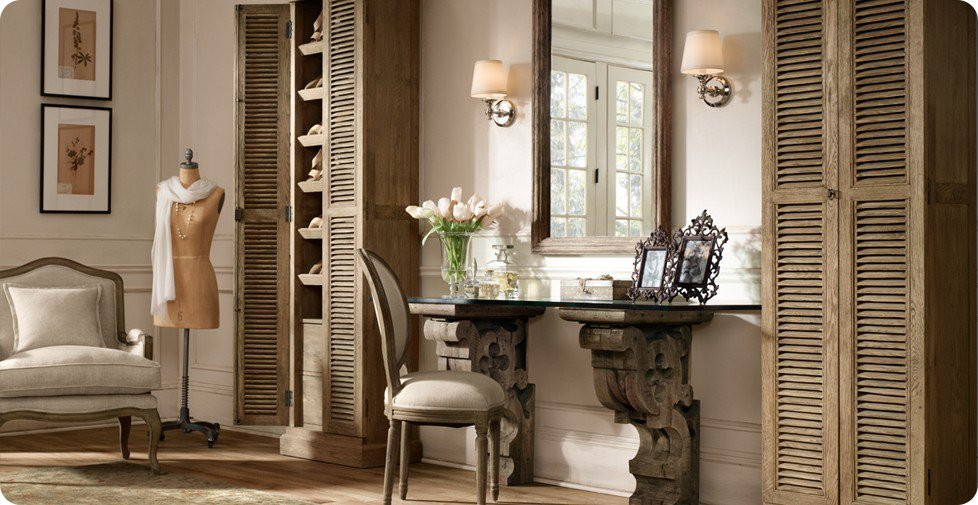 Industrial chic and french style home shabby home for Arredamento industrial chic