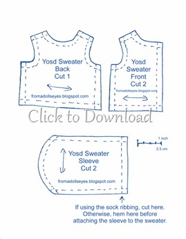 Yosd Ball Jointed Doll Sweater Pattern