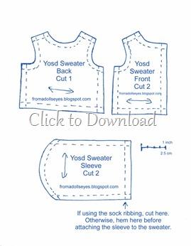Yosd Ball Jointed Doll Sweater Pattern