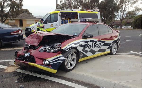 police car smash