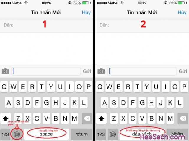 Hình 6 - Hướng dẫn cách bật chế độ gõ tiếng Việt trên iOS