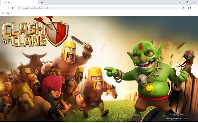 Clash Of Clans Full HD Custom New Tab