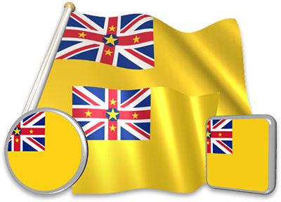 Niuean flag animated gif collection