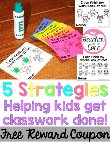 Motivate slower workers to get classwork done!!! Tons of freebies on this post from Teacher to the Core