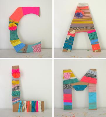 diy yarn letters kid craft