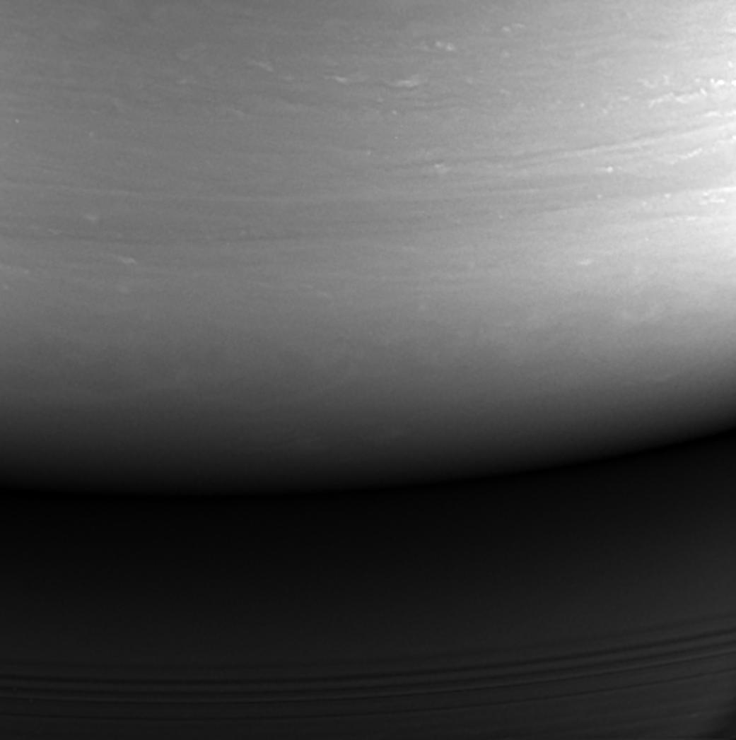 Hình ảnh cuối cùng chụp Sao Thổ của tàu Cassini. Hình ảnh: NASA/JPL-Caltech.