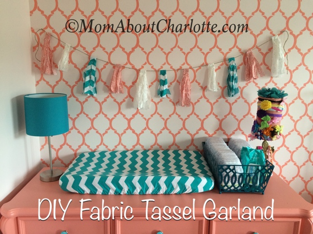 superior Tassel Garland Nursery Part - 14: I was looking for an inexpensive easy DIY craft to add some texture and  pops of color to the wall I had stenciled for our babyu0027s room.
