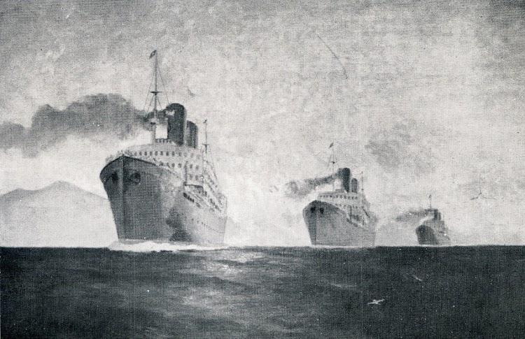 Los tres Comillas. Reproducción de un óleo de Justo Ruiz de Luna. Del libro Los Tres Comillas.JPG