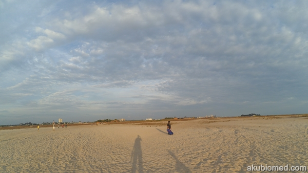 menapak untuk ke kawasan bermain sandboarding