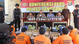 Ungkap Kasus Kriminal, Polres Tanggamus Tangkap 14 Tersangka