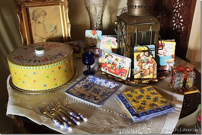 Birthday Tablescape-Bargain Decorating with Laurie
