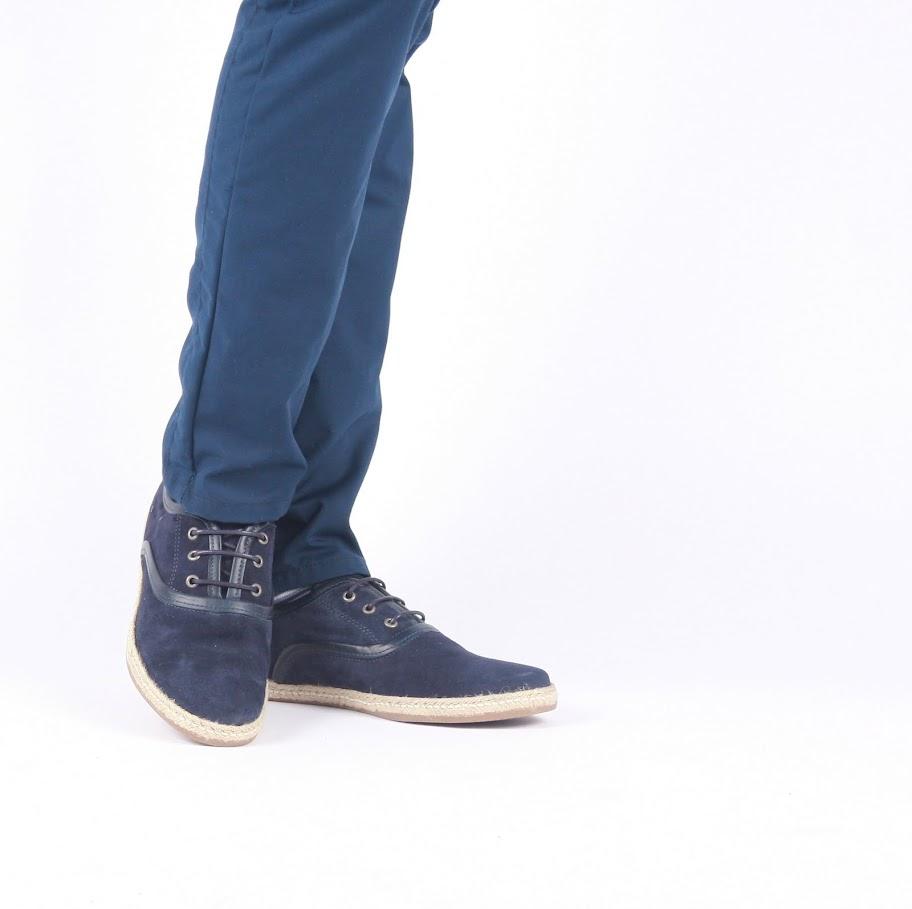 Pantofi Casual Sam Soe, Piele 100%, Model Superb, pe Bleumarin