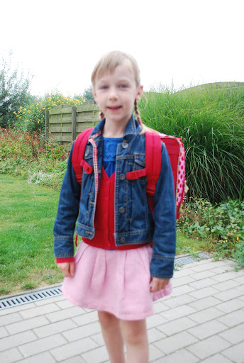 De eerste schooldag van het lager!!
