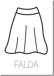 Falda ropa dibujos colorear pintaryjugar  (24)