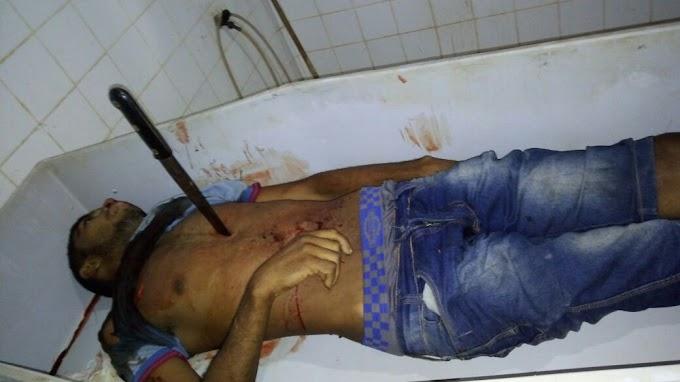 Homem é morto em Uruará e faca fica cravada no peito da vitima