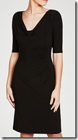 Lauren Ralph Lauren ruched black jersey dress