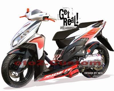 Modifikasi Honda Vario Techno Drag