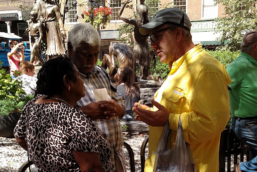 Neil presented the gospel message to a couple from India.