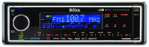 Boss 765DBI In-Dash Solid State MP3 Receiver with Internal iPod Docking Station