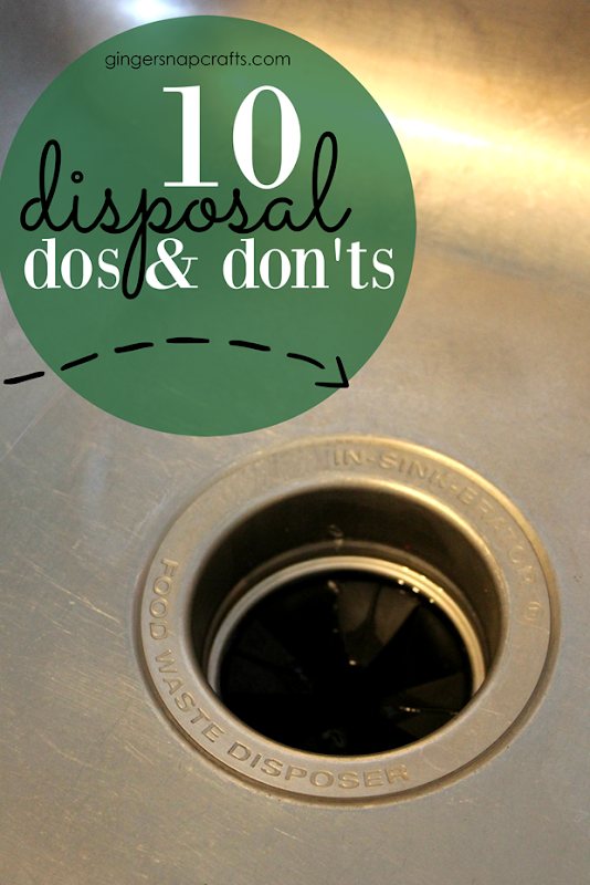 10 Disposal Dos and Don'ts at GingerSnapCrafts.com #tips #forthehome
