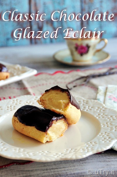 How to Make Classic Chocolate Glazed Éclair with step by step video tutorial!  http://uTry.it