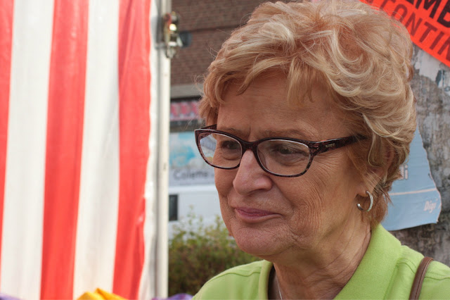 Françoise, l'une des organisatrices bien contente du succès rencontré. Une fois encore, vous avez été formidables!