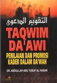 beli buku taqwim daawi penilaian kader dakwah rumah buku iqro best seller bentang pustaka