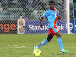 Mabi Mputu Trésor, lors du match RDC-Mali : 1-1, le 28/01/2013 à Durban en Afrique du Sud. Radio Okapi/ © Don John Bompengo