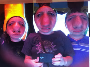 Photo: On Monday we went to the Tech Museum in San Jose where they had this funny photo making booth