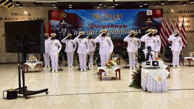 TNI AL Peringati Detik-Detik Proklamasi Secara Virtual