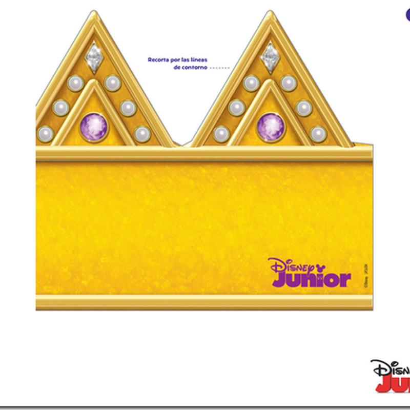 Corona princesa sofia para imprimir