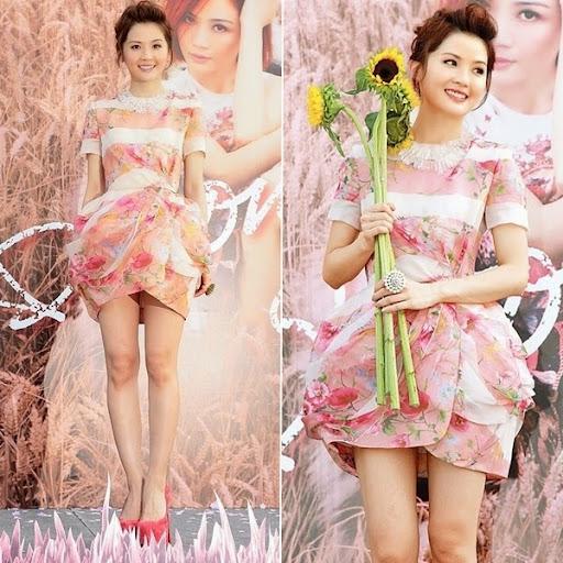 Phong cách nữ tính của ca sĩ Thái Trác Nghiên