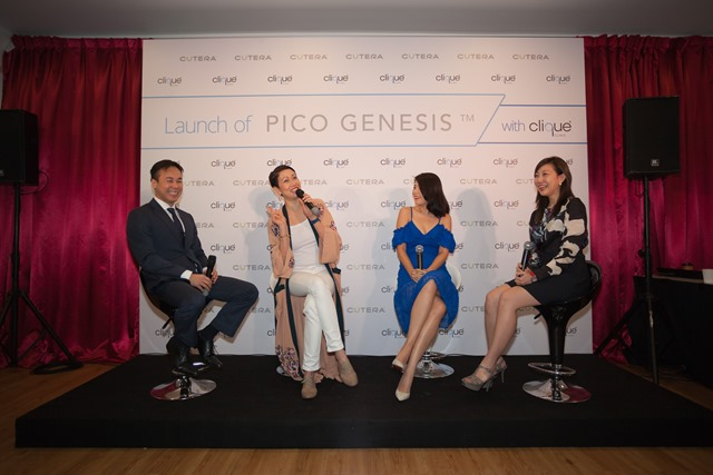 Celebrities Bernie Chan and Emily Lim sharing their experiences of using the new PICO Genesis treatment with enlighten