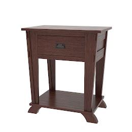 Baroque Nightstand with Shelf