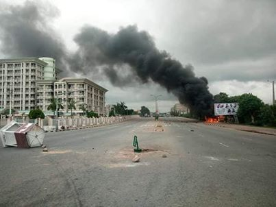 Shittes Muslim on rampage. 10 shot dead as the shitte Islamic group set NEMA substation on fire in Abuja.