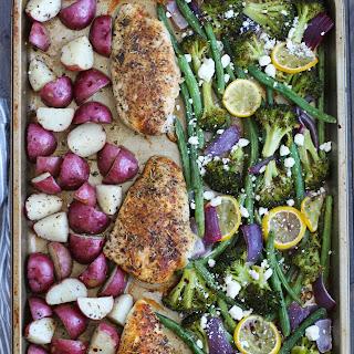 Sheet Pan Mediterranean Chicken and Vegetables.