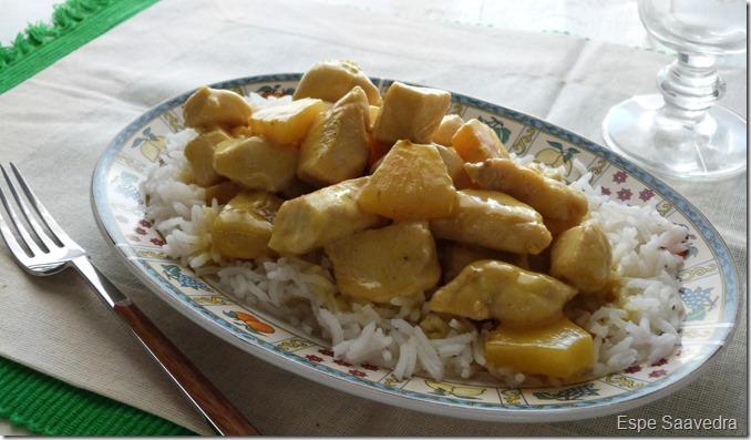 pollo curry coco piña espe saavedra