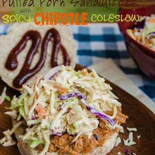 Slow Cooked Pulled Pork with Chipotle Coleslaw.