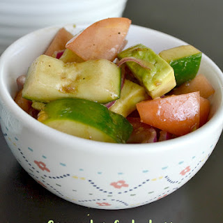 Cucumber Salad with Homemade Balsamic Vinaigrette Recipe