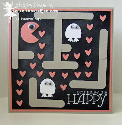 stampin up, inkspire_me 161, pacman, punch art, happy watercolor, word window, owl punch