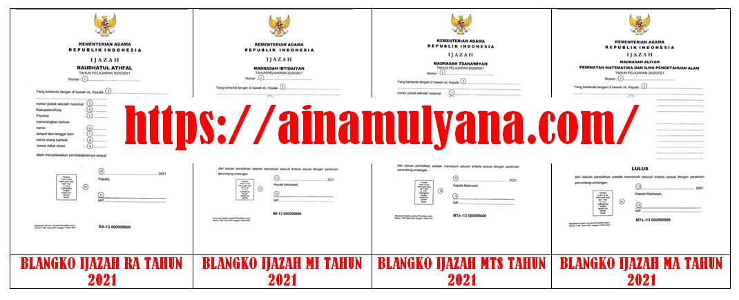 Juknis Pengisian Blangko Ijazah Madrasah (RA MI MTS MA MAK) Tahun 2021 (Tahun Pelajaran 2020/2021)