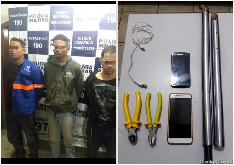 Três pessoas foram presas tentando furtar o Banco Sicredi em Nobres
