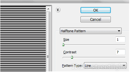 Halftone filter settings
