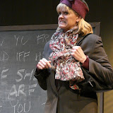 """Cristine M. Loffredo in """"Universal Language"""" as part of THE IVES HAVE IT - January/February 2012.  Property of The Schenectady Civic Players Theater Archive."""